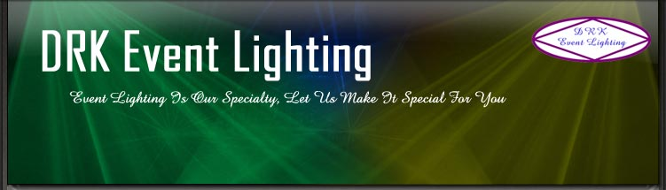 DRK Event Lighting - Event Lighting Is Our Specialty, Let Us Make It Special For You
